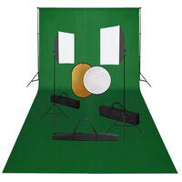 vidaXL Fotografska oprema sa svjetlima, pozadinom i reflektorom