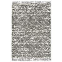 vidaXL Čupavi berberski tepih PP sivi i bež 140 x 200 cm