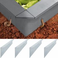 vidaXL Ploče za ogradu protiv puževa 4 kom čelične 150x7x25 cm 0,7 mm