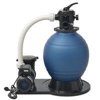 vidaXL Crpka s pješčanim filtrom 1000 W 16800 L/h XL