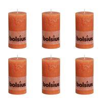 Bolsius rustikalna stupna svijeća 130 x 68 mm Narančasta 6 kom