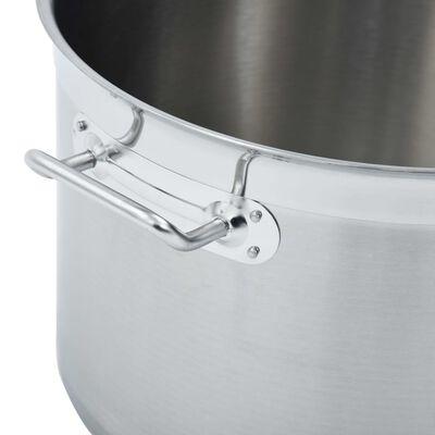 vidaXL Kuhinjski lonac 32 L 40 x 26 cm od nehrđajućeg čelika