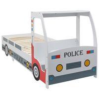 vidaXL Dječji krevet u obliku policijskog auta sa stolom 90 x 200 cm