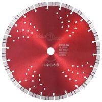 vidaXL Dijamantni disk za rezanje s turbo segmentima i rupama 300 mm