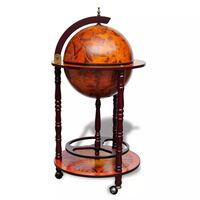 vidaXL Barski stalak za vino u obliku globusa od drva eukaliptusa