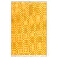 vidaXL Ćilim od pamuka s uzorkom 120 x 180 cm žuti