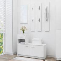 vidaXL Set za hodnik bijeli 100 x 25 x 76,5 cm od iverice