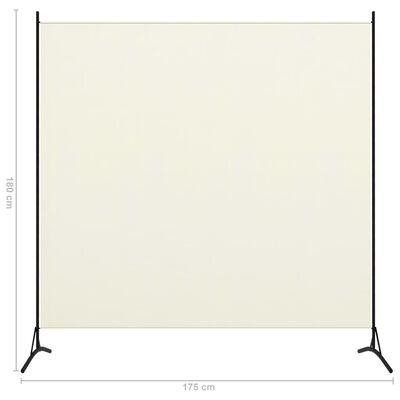 vidaXL Sobna pregrada s 1 panelom krem-bijela 175 x 180 cm