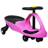 vidaXL Okretni dječji automobil na guranje s trubom ružičasti