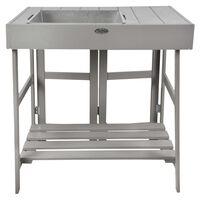 Esschert Design stol za sadnju sivi