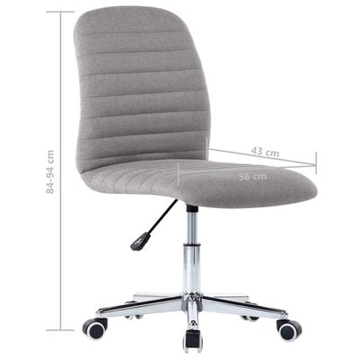vidaXL Okretna uredska stolica od tkanine svjetlosiva