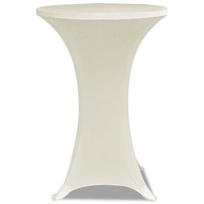 Krem rastežljiv stolnjak za stolove Ø80 2 kom