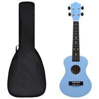 """vidaXL Set dječjeg ukulelea Soprano s torbom svjetloplavi 23 """""""