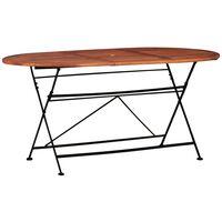 vidaXL Vrtni stol od masivnog bagremovog drva 160 x 85 x 74 cm ovalni