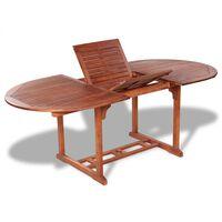 vidaXL Vrtni stol od masivnog bagremovog drva 200 x 100 x 74 cm