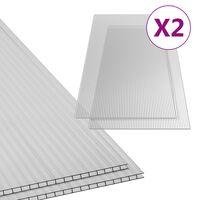vidaXL Polikarbonatne ploče 2 kom 10 mm 150 x 65 cm