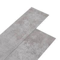 vidaXL Podne obloge od PVC-a 5,26 m² 2 mm zemljano sive