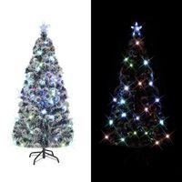 vidaXL Umjetno božićno drvce sa stalkom LED 150 cm optička vlakna