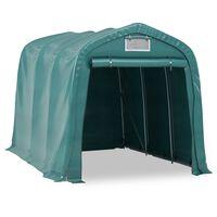 vidaXL Garažni šator PVC 2,4 x 3,6 m zeleni