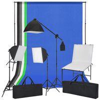 vidaXL Oprema za Foto Studio sa Stolom za Snimanje, Svjetlima i Pozadinama