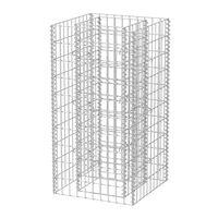 vidaXL Gabionska sadilica čelična 50 x 50 x 100 cm