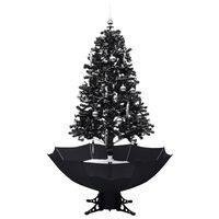 vidaXL Božićno drvce koje sniježi sa stalkom crno 170 cm PVC