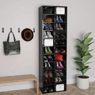 vidaXL Ormarić za cipele visoki sjaj crni 54 x 34 x 183 cm od iverice