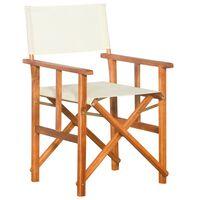 vidaXL Redateljska stolica od masivnog bagremovog drva