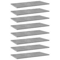 vidaXL Police za knjige 8 kom siva boja betona 60x30x1,5 cm od iverice