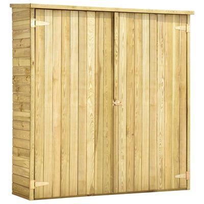 vidaXL Vrtna kućica za alat od impregnirane borovine 163 x 50 x 171 cm