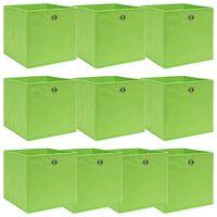 vidaXL Kutije za pohranu 10 kom zelene 32 x 32 x 32 cm od tkanine