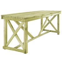vidaXL Vrtni stol 160 x 79 x 75 cm drveni