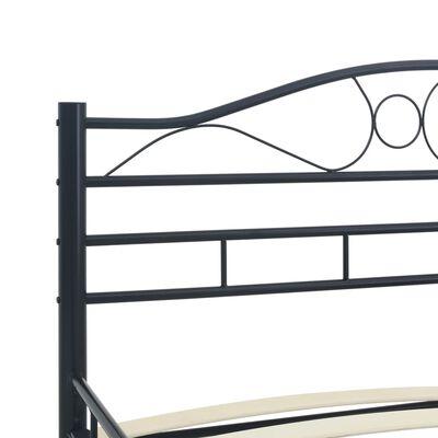 vidaXL Okvir za krevet crni čelični 200 x 200 cm