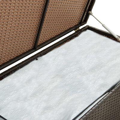 vidaXL Vrtna kutija za pohranu od poliratana 200 x 50 x 60 cm smeđa
