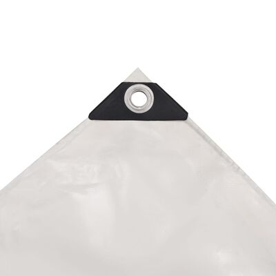 vidaXL Cerada 650 g/m² 4x8 m bijela