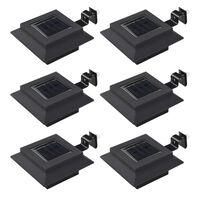 vidaXL Vrtne solarne svjetiljke 6 kom LED kvadratne 12 cm crne