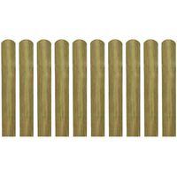 vidaXL Impregnirane letvice za ogradu 30 kom 60 cm drvene