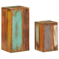 vidaXL Side Tables 2 pcs Solid Reclaimed Wood