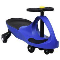 vidaXL Okretni dječji automobil na guranje s trubom plavi
