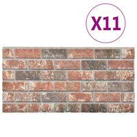 vidaXL 3D zidni paneli s uzorkom tamnosmeđih i sivih cigli 11 kom EPS