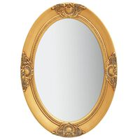 vidaXL Zidno ogledalo u baroknom stilu 50 x 70 cm zlatno