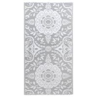 vidaXL Vanjski tepih svjetlosivi 190 x 290 cm PP