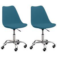 vidaXL Uredske stolice od umjetne kože 2 kom tirkizne