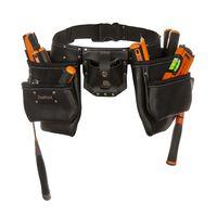Kožni pojas s 2 kesice za alat Toolpack industrijski stil 366.002