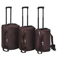 vidaXL 3-dijelni set prtljage boja kave
