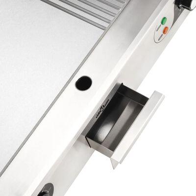 vidaXL Električni roštilj od nehrđajućeg čelika 4400 W 73 x 51 x 23 cm