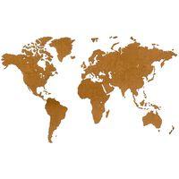 MiMi Innovations zidna drvena karta svijeta Luxury smeđa 180 x 108 cm