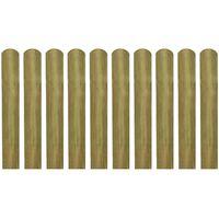 vidaXL Impregnirane letvice za ogradu 20 kom 60 cm drvene