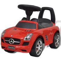 Mercedes Benz autić na guranje, crveni