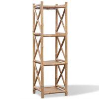 Pravokutna polica od bambusa s 4 razine